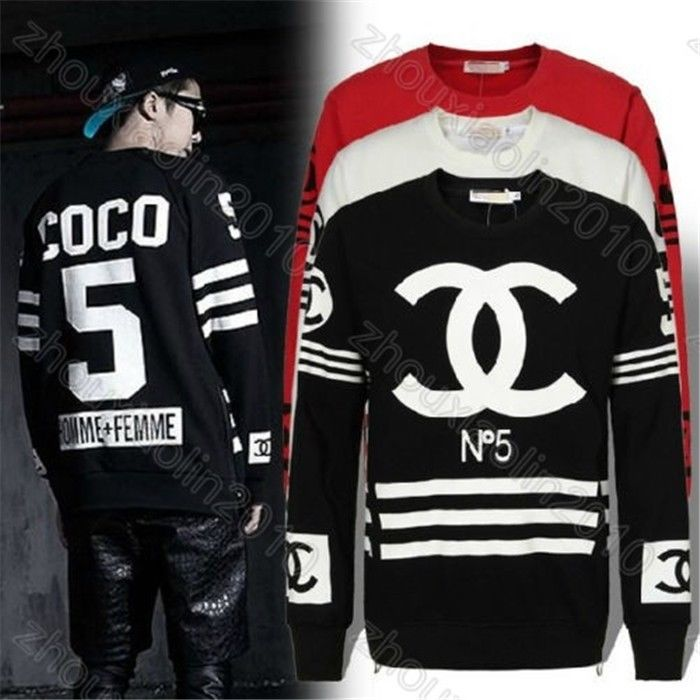 New Unisex Homme Femme Hip Hop Rap Street Long Black Zipper Crewneck Sweatshirt | eBay