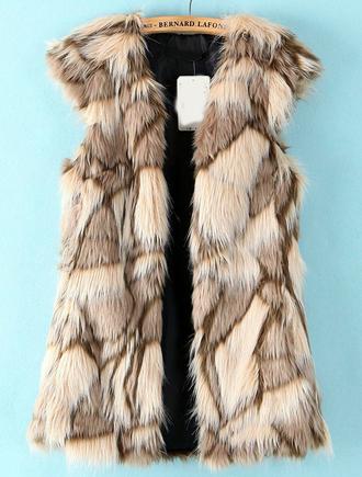 coat fur vest faux faux fur faux fur vest