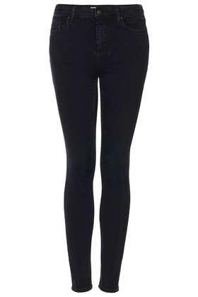 MOTO Blue Black Jamie Jeans - Jamie Skinny Jeans - Jeans  - Clothing - Topshop
