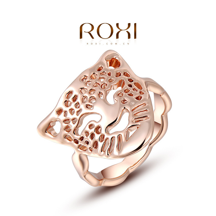 Fashion Accessories Jewelry Gold Plated Austria Crystal Full CZ Diamond with Swarovski Element Leopard Head Rings for Women-in Rings from Jewelry on Aliexpress.com