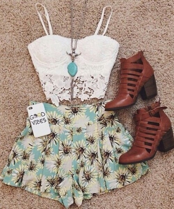 skirt jewels shoes girly outfit crop tops skater clothes vibes dress top lace white