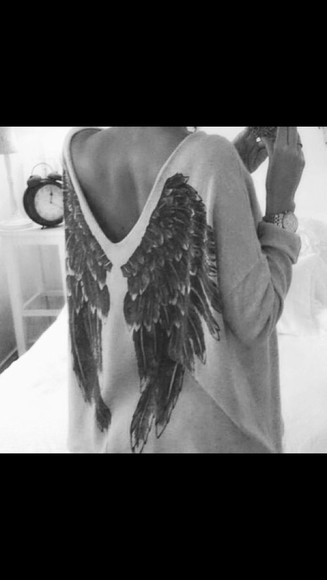 jumper backless wings