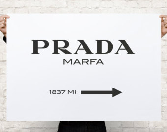 Popular items for prada marfa on Etsy