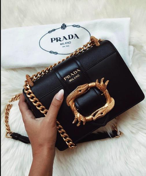 e305d925c19a bag prada prada crossbody black clack bag snake snake bag crossbody bag  chain bag