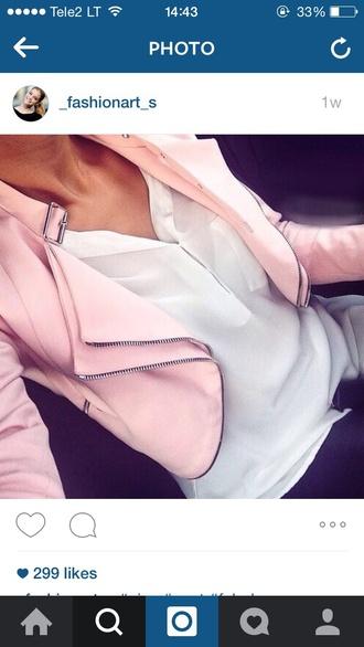 jacket pastel pink