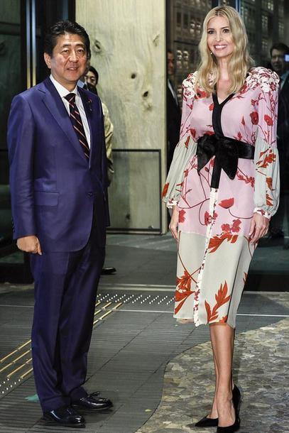 dress ivanka trump midi dress