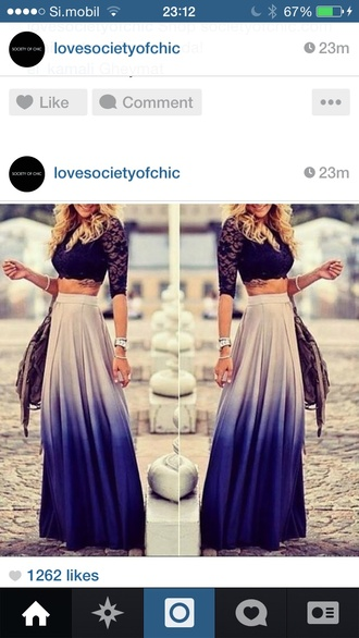 skirt ombre beige long skirt ombre bleach dye maxi skirt blouse spring skirt