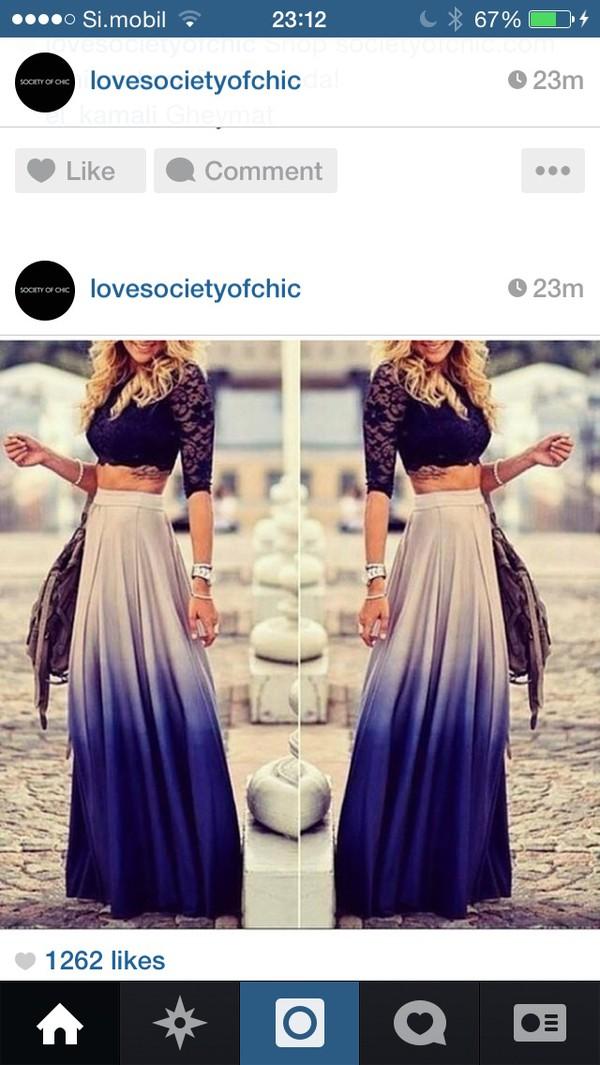 skirt ombre beige long skirt ombre bleach dye maxi skirt blouse spring skirt