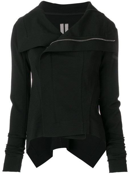 Rick Owens jacket women spandex cotton black