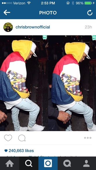 jacket chris brown windbreaker vintage