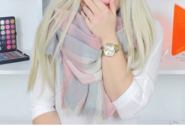 scarf cute big scarf pastel