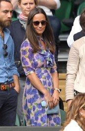 dress,floral dress,floral,spring dress,sunglasses,clutch,pippa middleton