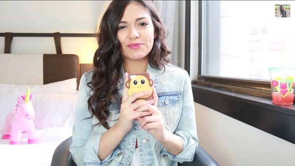 phone cover bethany mota monkey case for iphone 4/4s/5 cute