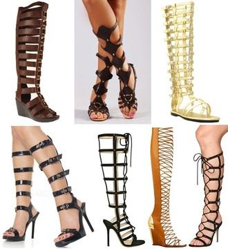 gladiators black shoes knee high gladiator sandals black sandals