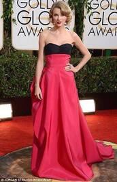 dress,celebrity,taylor swift,golden globe red carpet