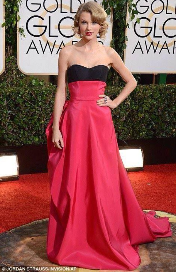 dress celebrity taylor swift golden globe red carpet
