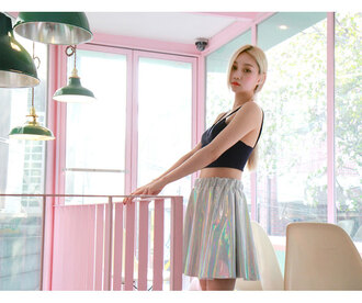 skirt holographic skirt metallic skirt