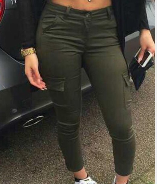 pants jeans color high waisted jeans green khaki pants olive green cargo pants khaki olive green army green trendy pockets instagram tumblr