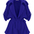 Blue Long Sleeve Epaulet Belt Trench Coat - Sheinside.com
