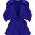 Blue Long Sleeve Epaulet Belt Trench Coat - Sheinside.com