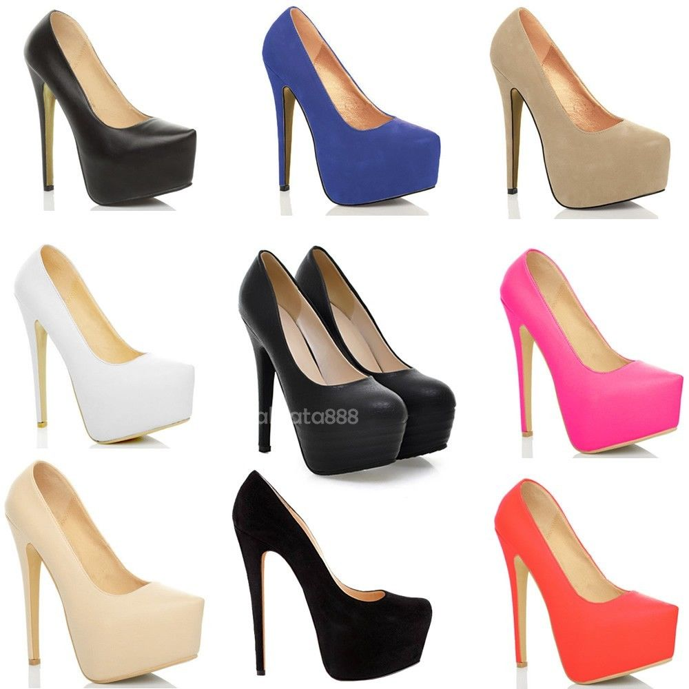 55a87f07f27 new uk2-9 womens party platform pumps killer high heels stiletto court ...