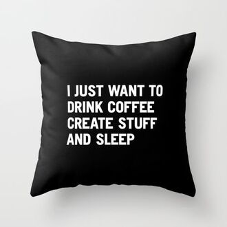pillow hipster wishlist quote on it new years resolution quote on it pillow coffee dorm room