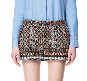 shorts zara embellished shorts beaded shorts beaded mirror shorts embellished