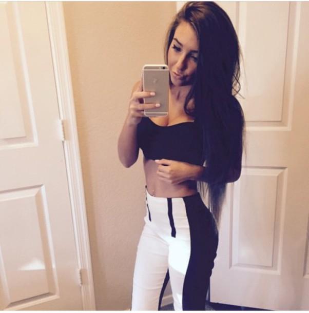 pants top sports bra
