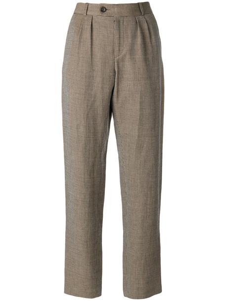 A.P.C. women fit cotton brown pants