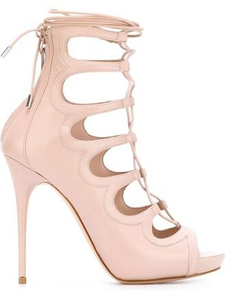sandals lace nude shoes