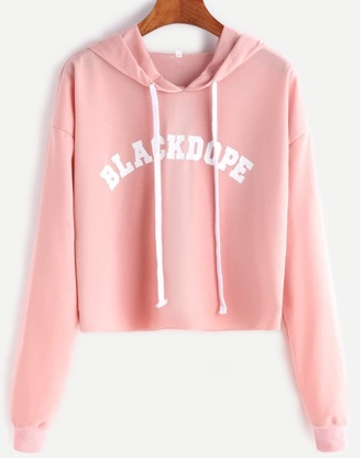Pink Cropped Hoodie - Shop for Pink Cropped Hoodie on Wheretoget