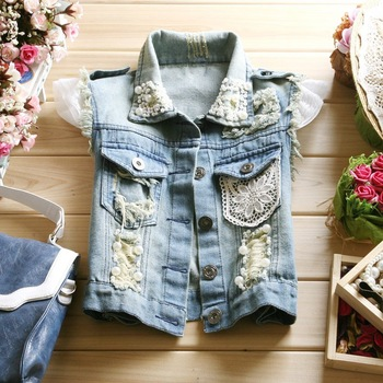 Aliexpress.com : Buy 2012 women to fashionable sleeveless paillette beaded  stand collar denim vest summer women dress decorate small cape jackets from Reliable women dress casual suppliers on Working For Customer.