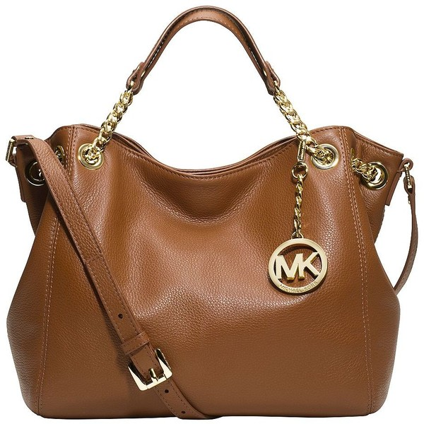 MICHAEL MICHAEL KORS Jet Set Leather Medium Shoulder Tote - Polyvore