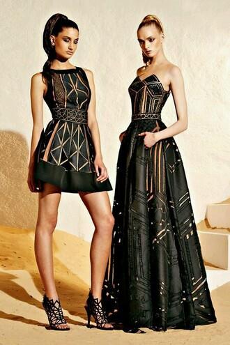 dress black dress women leather dresses geometric