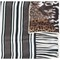Pierre-louis mascia multi pattern scarf, women's, brown, silk/modal/cashmere