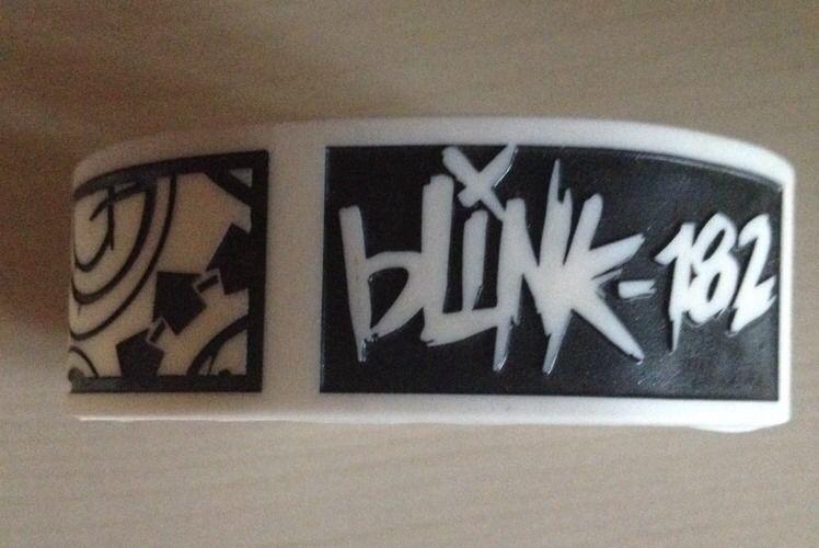 Blink-182 Bracelet New Bompa Tom Mark Travis Silicon Rubber Wristband