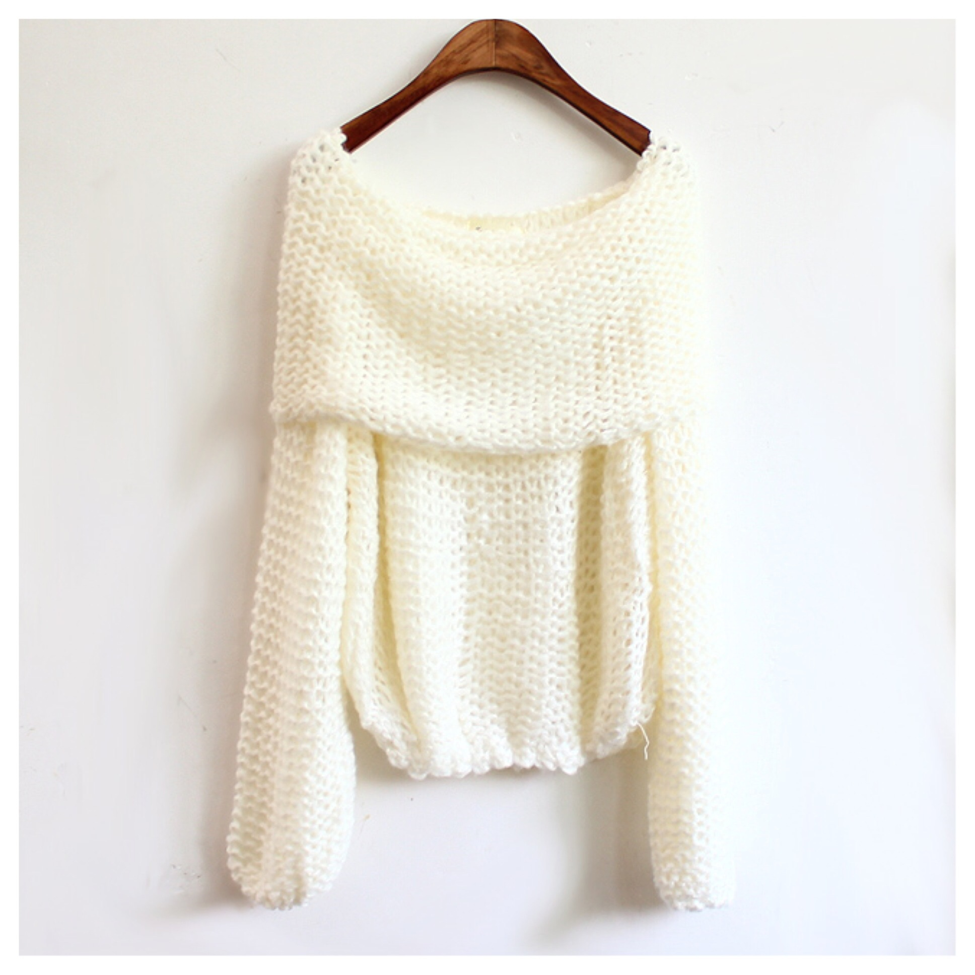 Knitted off shoulder sweater from doublelw on storenvy