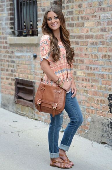 coral top blouse