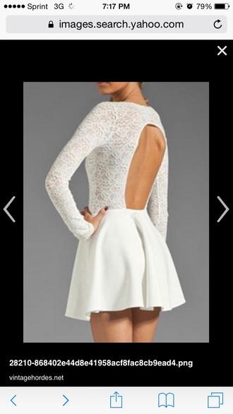 dress lace dress long sleeve dress backless dress