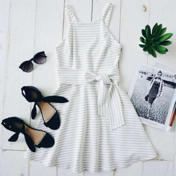 dress white stripes white dress striped dress