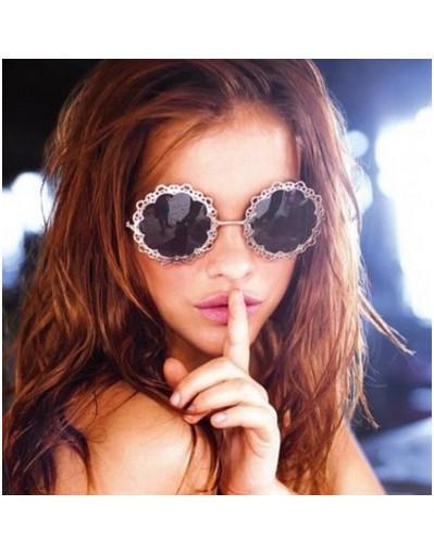 Flower lace sunglasses urban round ladies retro