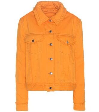 jacket denim jacket denim orange