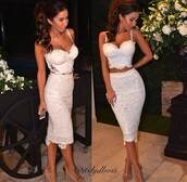 top,crop tops,sexy,white,skirt,white dress,lace dress,lace,cute dress,cute,party,set,two-piece,midi skirt,dress,bustier,bodycon dress,midi dress,lacey dress,itslydboss,white bustier,knee length,bodycon,sexy dress,keen length dress,knee length dress,maries boutique,white lace dress,two piece dress set,pencil skirt