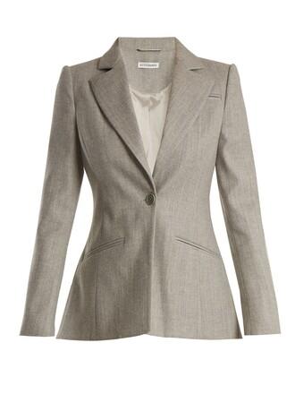jacket wool light grey