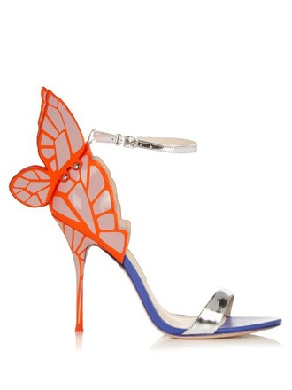 butterfly sandals silver shoes