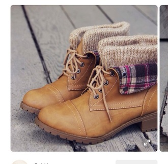 shoes boots booties combat boots flannel sweater