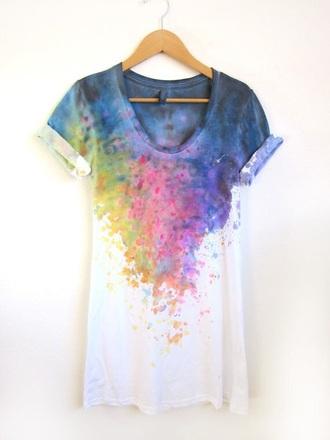t-shirt cute dope style shirt tie dye tie dye shirt