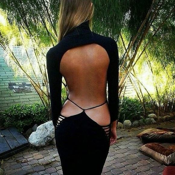 sexy dress little black dress backless