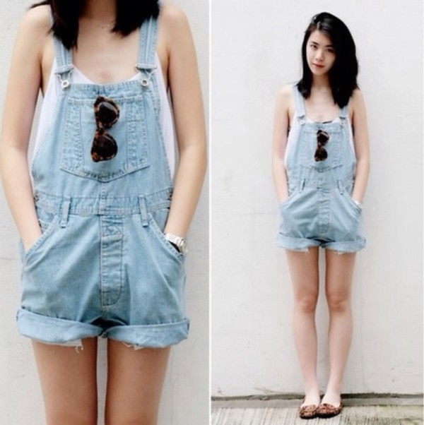 shorts dungarees light blue pockets dress blue gorgeous sunglasses