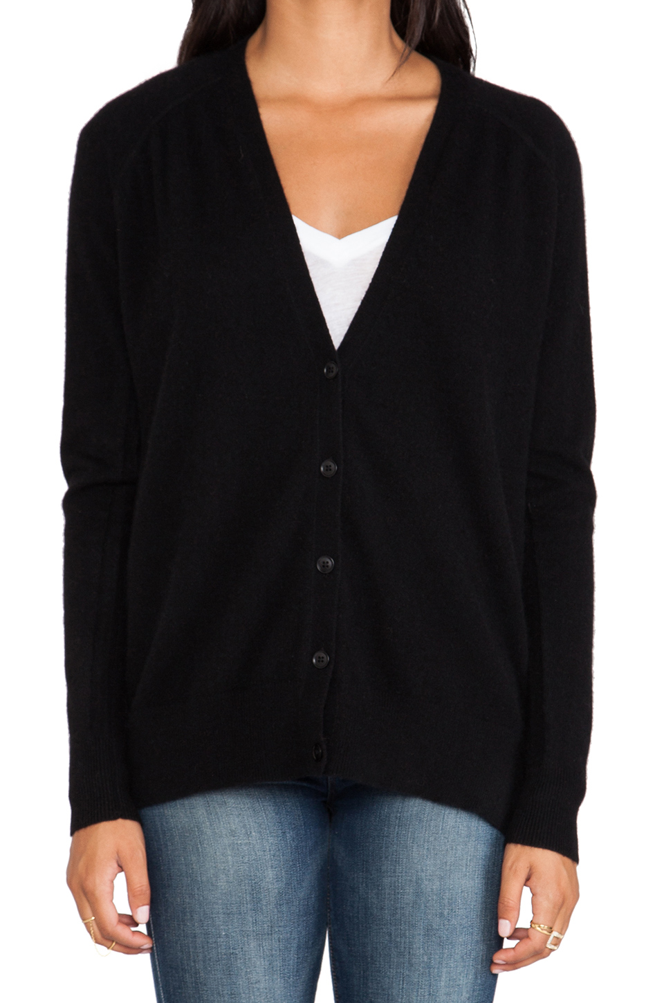 360 sweater milan cardigan in black from revolveclothing.com